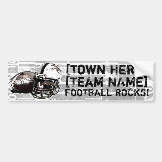 Football Helmet and Pigskin Bumper Sticker