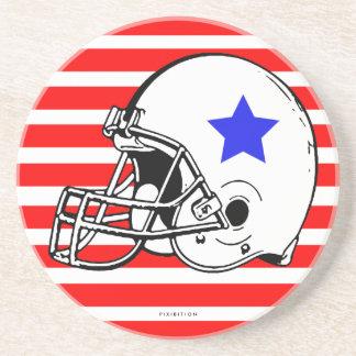 Football Helmet Coaster Black
