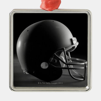Football helmet Silver-Colored square decoration