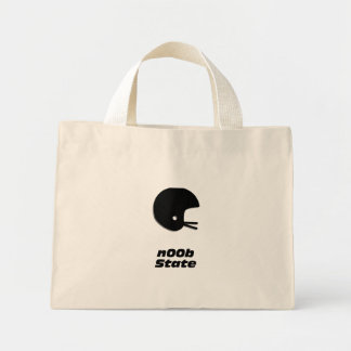 Football Helmet n00b State Tote Bags