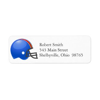 Football Helmet Return Address Labels