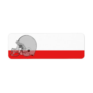 Football Helmet Sport Label