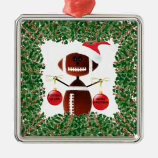 Football Holiday Christmas Ornament