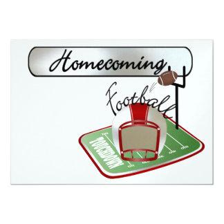 "Football Homecoming Invitation - SRF 5"" X 7"" Invitation Card"