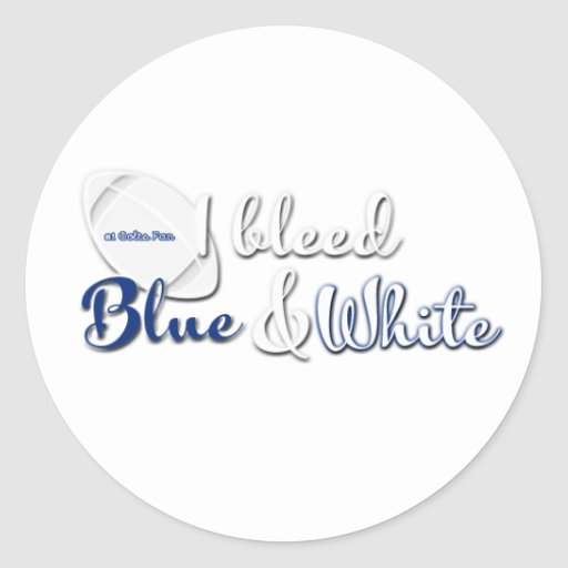Football I bleed [team colors] Round Stickers