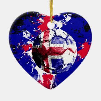 football Iceland Christmas Ornament