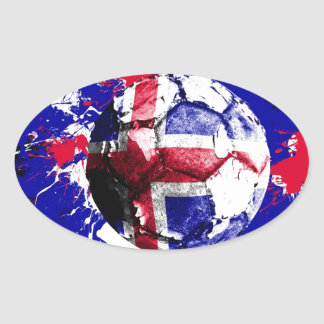 football Iceland Oval Sticker