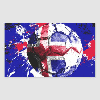 football Iceland Rectangular Sticker