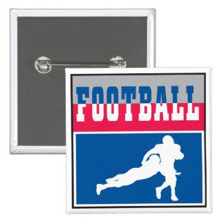 football icon graphic 15 cm square badge