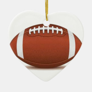 FOOTBALL IMAGE ON ITEMS CERAMIC HEART DECORATION
