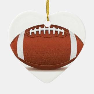 FOOTBALL IMAGE ON ITEMS CERAMIC HEART DECORATION