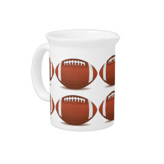 FOOTBALL IMAGE ON ITEMS DRINK PITCHER