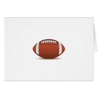 FOOTBALL IMAGE ON ITEMS GREETING CARD