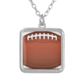 FOOTBALL IMAGE ON ITEMS SQUARE PENDANT NECKLACE