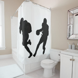 Football images for Shower Curtain