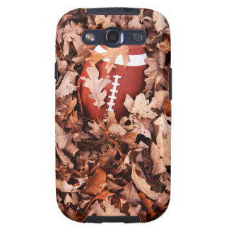 Football in Autumn Leaves Samsung Galaxy SIII Cases