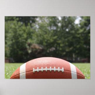 Football in Grass, Closeup Poster