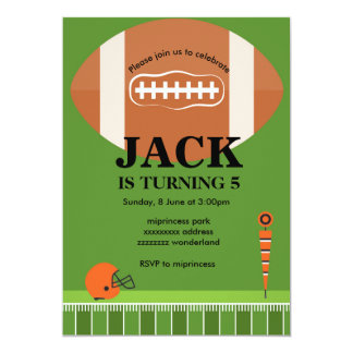 football Invitation, Soccer , sport, boy birthday Card