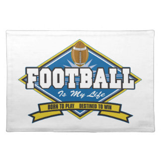 Football Is My Life Placemat