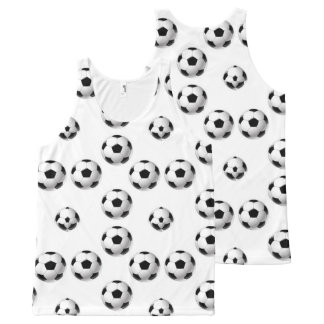 Football isolated on white background. All-Over print tank top
