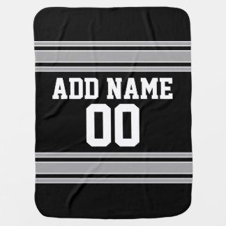 Football Jersey - Customize with Your Info Swaddle Blankets