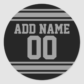 Football Jersey - Customize with Your Info Round Sticker