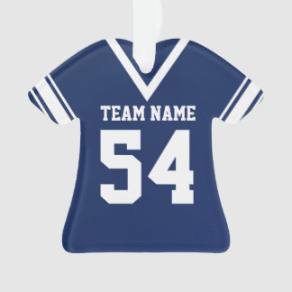Football Jersey Dark Blue Uniform with Photo