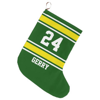 Football Jersey Name/Number Large Christmas Stocking