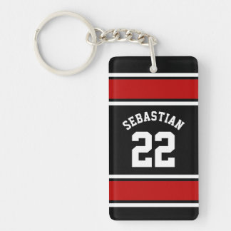 Football Jersey Novelty Personalized Name Key Ring