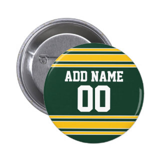 Football Jersey with Custom Name Number 6 Cm Round Badge