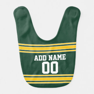 Football Jersey with Custom Name Number Baby Bibs