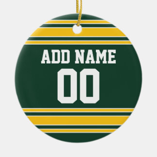 Football Jersey with Custom Name Number Christmas Ornament