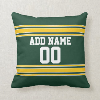 Football Jersey with Custom Name Number Cushion
