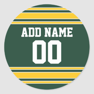 Football Jersey with Custom Name Number Stickers