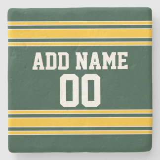 Football Jersey with Custom Name Number Stone Coaster