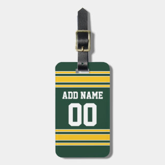Football Jersey with Custom Name Number Tags For Bags