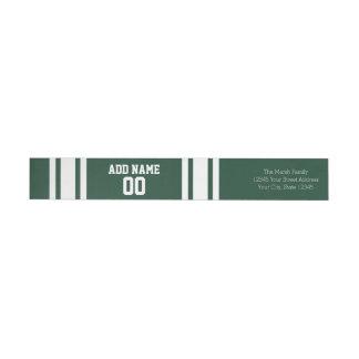 Football Jersey with Custom Name Number Wraparound Return Address Label