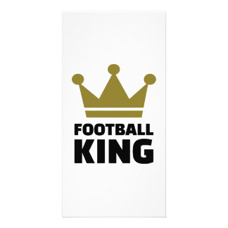 Football King champion Customized Photo Card