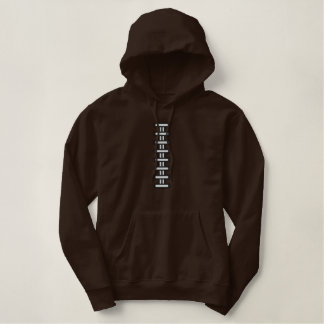 Football Laces Customized Embroidered Hoodie