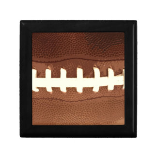Football Laces Graphic Small Square Gift Box