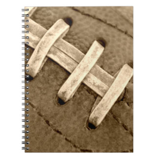 Football Laces Spiral Notebook