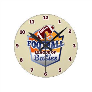 Football | League of Babies Round Clock