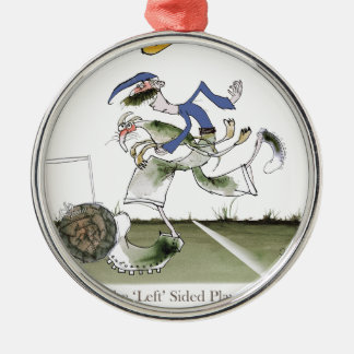 football left wing blue kit christmas ornament