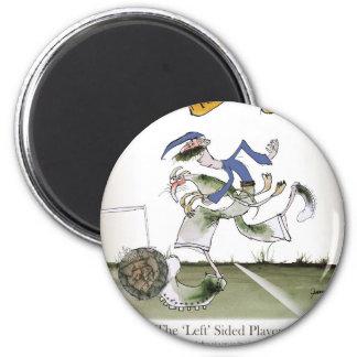 football left wing blue kit magnet