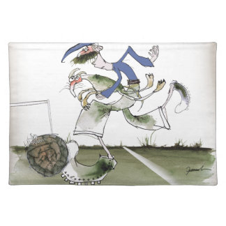 football left wing blue kit placemat