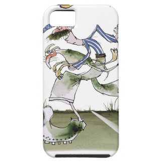 football left wing, blue white kit case for the iPhone 5