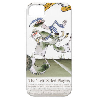 football left wing, blue white kit iPhone 5 case