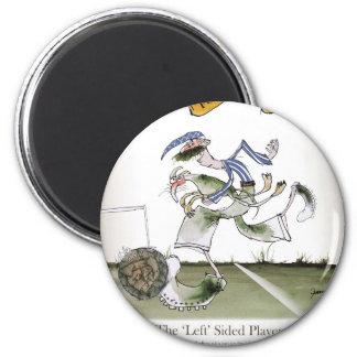 football left wing, blue white kit magnet