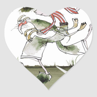 football left wing, red white kit heart sticker