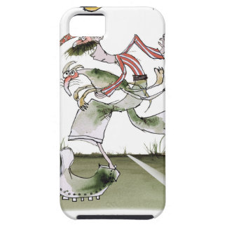 football left wing, red white kit iPhone 5 case